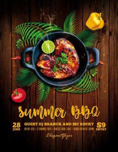 Summer BBQ Free PSD Flyer Template