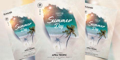 Summer Beach Party Free PSD Flyer Template