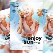 Summer Light PSD Free Flyer Template