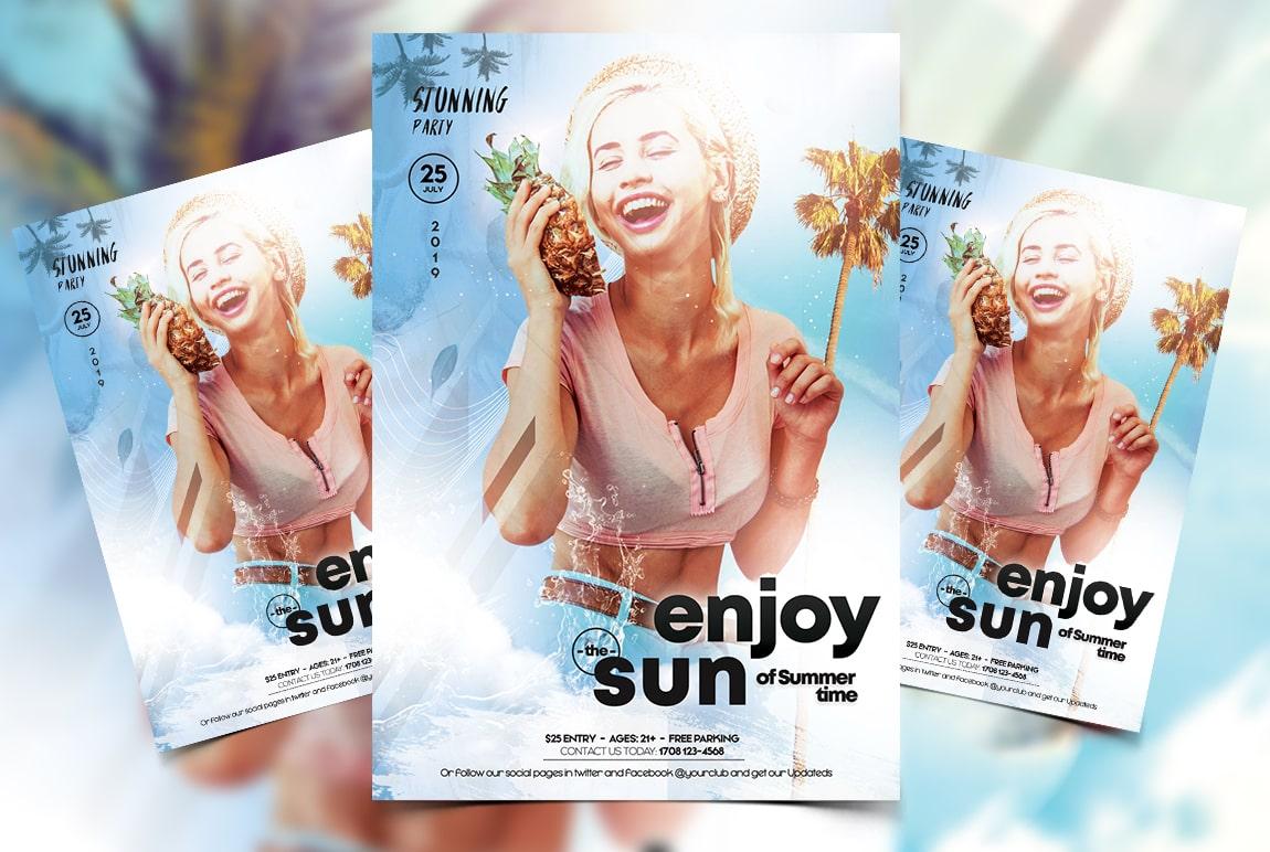 Summer Light PSD Free Flyer Template
