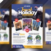 Summer Tour Travel Flyer PSD Template