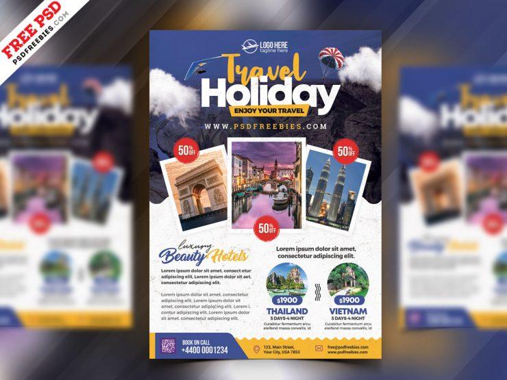 Summer Tour Travel Flyer PSD Template
