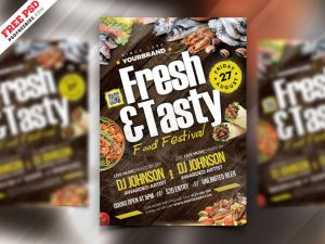 Tasty Food Free PSD Flyer Template