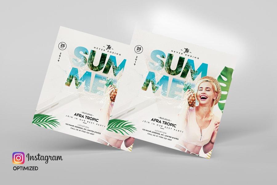 The Summer Beach Event PSD Free Flyer Template