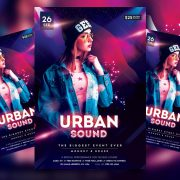 Urban Sound Free PSD Flyer Template