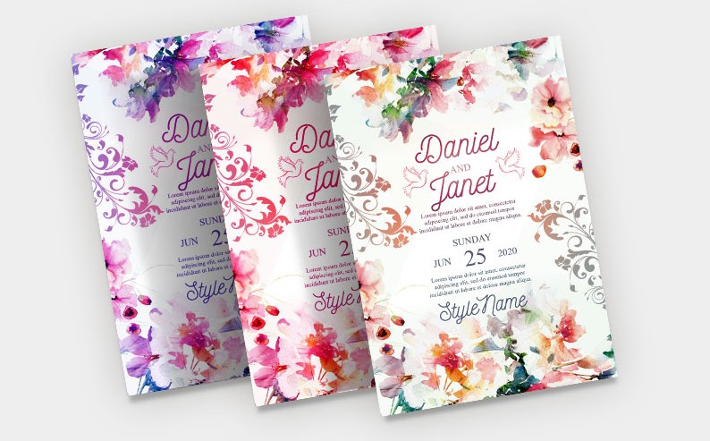 Wedding Invitation PSD Free Flyer Template