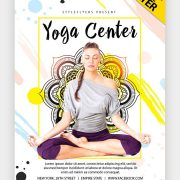 Yoga-Studio-Free-Colorful-PSD-Flyer-Template download