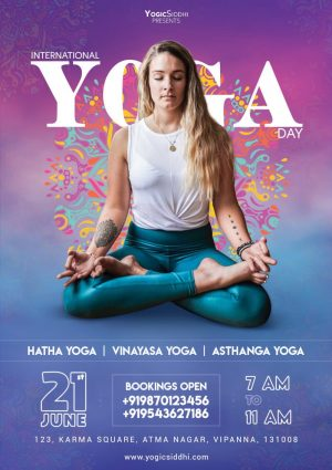 Yoga Today - Free PSD Flyer Template