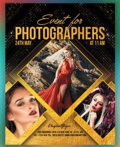 Photographer Event Free PSD Flyer Template