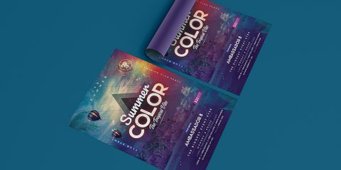 Summer Color Free Tropical PSD Flyer Template