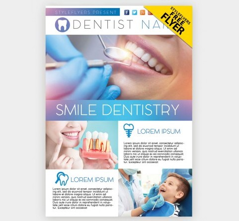 Dental Clinic Free PSD Flyer Template