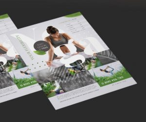 Free Yoga Center PSD Flyer Template