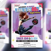 Back to 80's Free Retro PSD Flyer Template