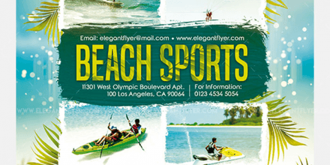 Beach Sports Free PSD Flyer Template