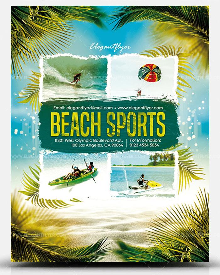 Beach Sports Free PSD Flyer Template