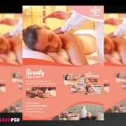 Beauty Spa & Massage PSD Free Flyer Template