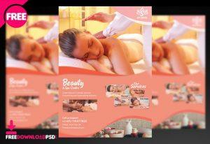 Beauty Spa & Massage PSD Free Flyer Template