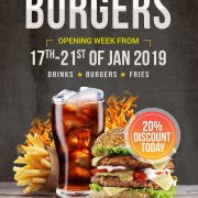 Burger Classic PSD Free Flyer Template