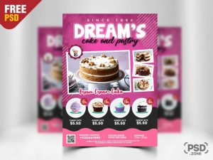 Cake Sale Store PSD Free Flyer Template