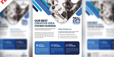 Clean Corporate PSD Flyers Templates