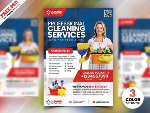 Cleaning Company PSD Free Flyer Template