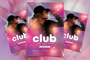 Club Artist PSD Free Flyer Template