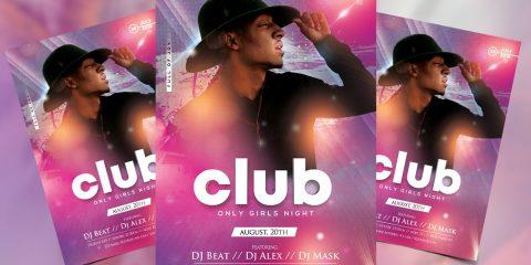 Club Artist PSD Free Flyer Template