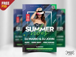 Club Time Free PSD Flyer Template