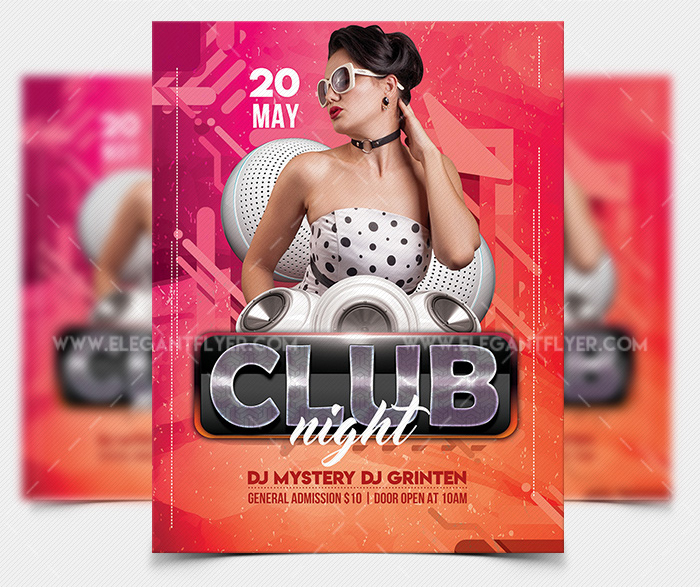 Club Vibe Download PSD Free Flyer Template