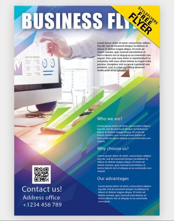 Creative Agency Marketing Free PSD Flyer Template