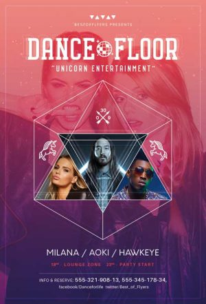 Dance Floor Free PSD Flyer Template