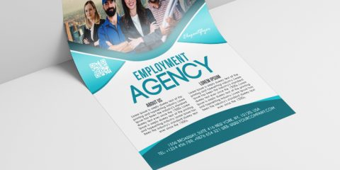 Employment Agency Free Business PSD Flyer Template