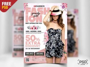 Fashion Sale Boutique Free PSD Flyer Template