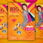 Fashion Sale PSD Free Flyer Template
