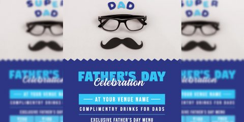 Father's Day PSD Free Flyer Templates