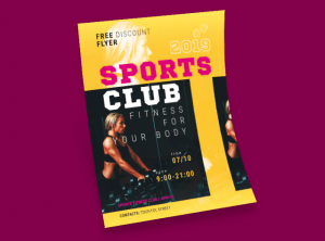 Fitness Gym Center Free PSD Flyer Template