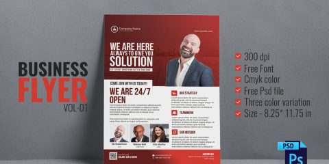 Free Business Agency PSD Flyer Template