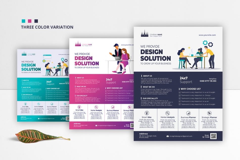 Free Business Corporate PSD Flyer Template