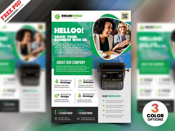 Free Creative Business PSD Flyer Template