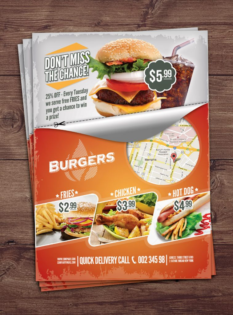 Free Fast Food PSD Flyer Template