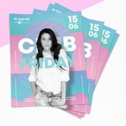 Friday Party - Colour Free PSD Flyer Template