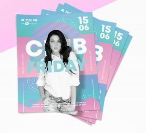 Friday Party – Colour Free PSD Flyer Template
