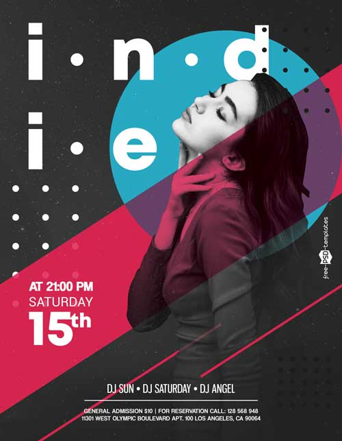 Indie Music PSD Free Flyer Template