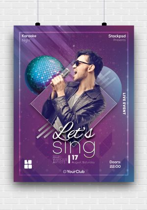 Karaoke Vibe PSD Free Flyer Template
