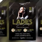 Ladies Night Elegant Free PSD Flyer Template