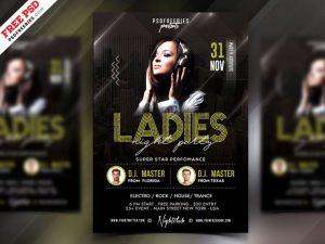 Ladies Night Elegant Free PSD Flyer Template