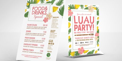 Luau Party Free PSD Flyer Template