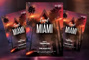 Miami Beach PSD Free Flyer Template