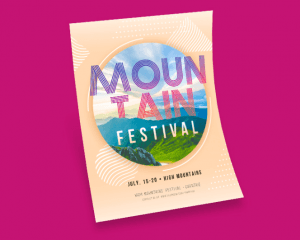 Mountain Festival Free PSD Flyer Template