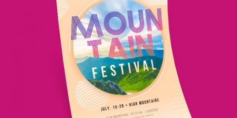 Mountain Festival Free PSD Flyer Template